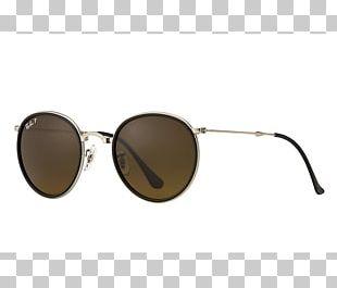 fc9eb754cae4b1 Ray-Ban Round Metal Folding Sunglasses PNG