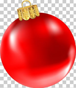Red Christmas Ornament Sparkleball PNG