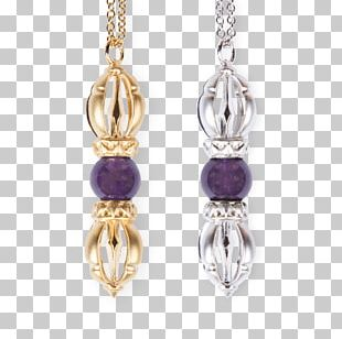 Amethyst Earring Necklace Gold Jewellery PNG
