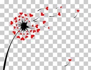 Dandelion Heart Illustration PNG