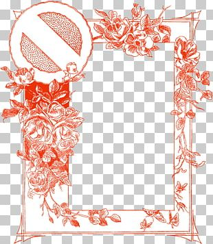 Floral Design Illustration Wall Decal Frames PNG
