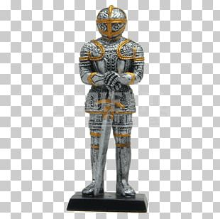 Middle Ages Knight Statue Figurine Sculpture PNG