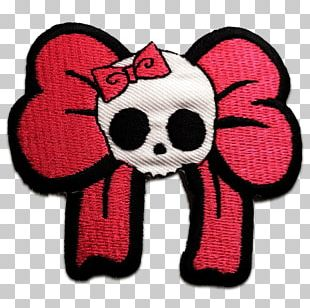 Embroidered Patch Skull Embroidery Sewing Appliqué PNG