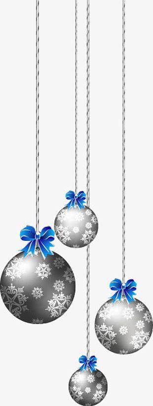 Silver Christmas Ball PNG