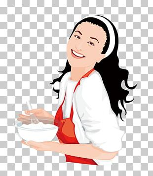 Cooking Woman Illustration PNG