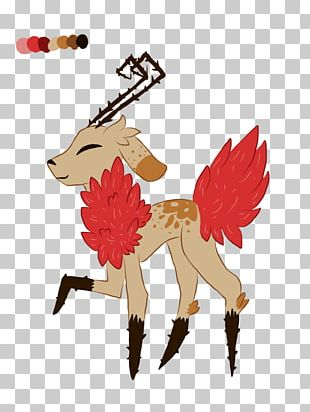 Reindeer Horse Dog Illustration Mammal PNG