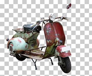 Scooter Car Vespa Motorcycle PNG