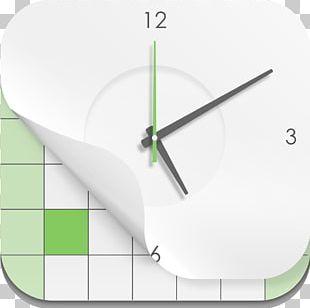 Line Angle Clock PNG