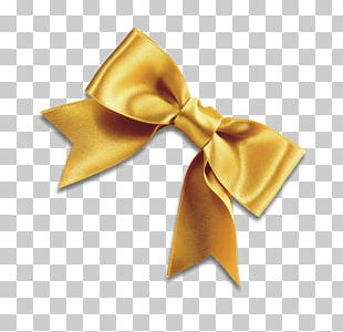Bow Tie Yellow Ribbon Shoelace Knot PNG