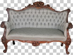 Loveseat Table Couch Antique Furniture PNG