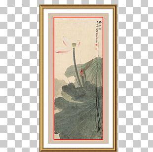 Chinese Painting Nelumbo Nucifera Ink Wash Painting PNG
