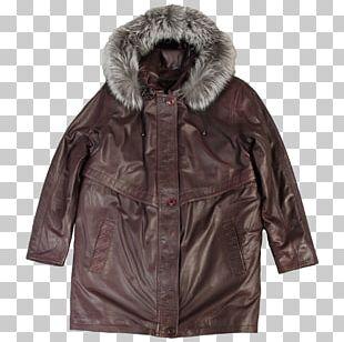 Leather Jacket Coat Fur Clothing Hood PNG