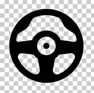 Motor Vehicle Steering Wheels Ferrari Computer Icons Black & White PNG