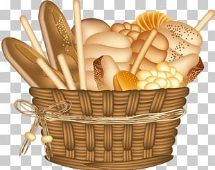 Basket Of Bread PNG