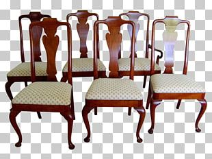 Dining Room Table Chair Queen Anne Style Furniture PNG