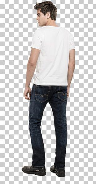 Jeans T-shirt Slim-fit Pants Sleeve Denim PNG