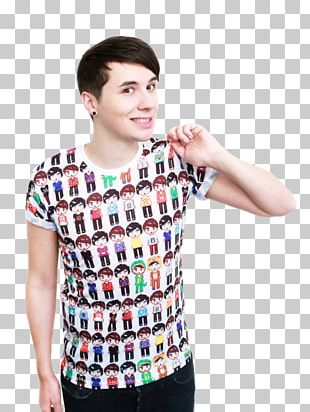 Phil Lester T-shirt The Amazing Book Is Not On Fire Dan And Phil PNG