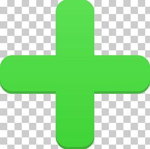 Symbol Grass Green Cross Font PNG