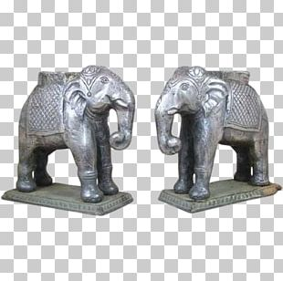 Indian Elephant African Elephant Statue Carving PNG