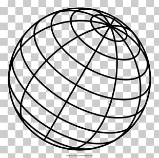 Coloring Book Drawing Sphere Line Art PNG