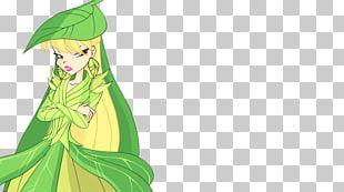 Fairy Illustration Costume Design Green Leaf PNG