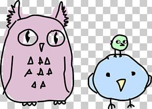 Bird Owl Cartoon Drawing PNG