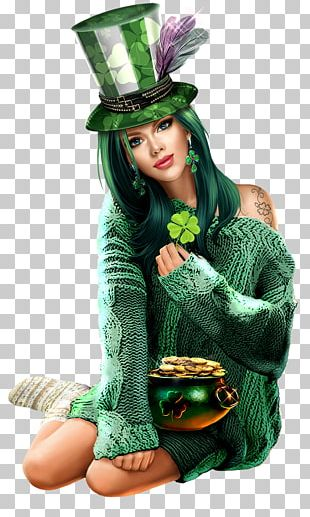Saint Patrick's Day Woman Her PNG