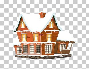 Chimney Winter House Snow PNG