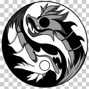 Tattoo Yin And Yang Chinese Dragon Drawing PNG