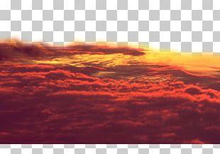 Sky Afterglow Cloud Iridescence Sunset PNG