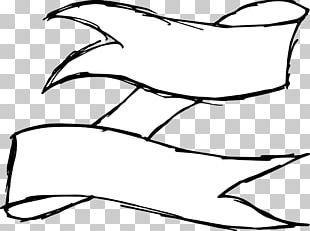 Ribbon Drawing Black And White PNG
