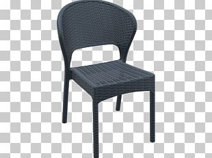 Table Chair Garden Furniture Resin Wicker Seat PNG