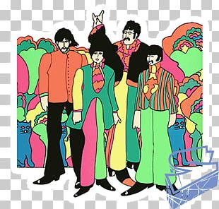 Yellow Submarine Songtrack The Beatles Love Poster PNG
