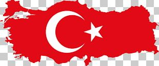Flag Of Turkey Map PNG