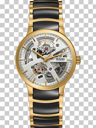 Rado Centrix Automatic Open Heart Watch Clock PNG