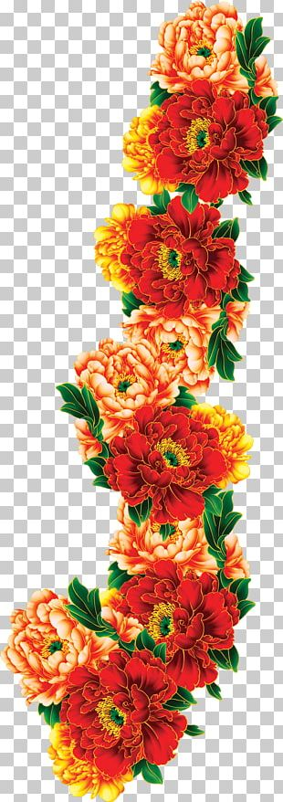 Mooncake Floral Design Mid-Autumn Festival PNG