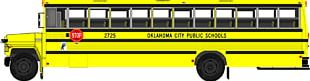 Oklahoma City Public Schools School Bus PNG