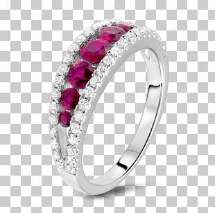 Ring Jewellery Gemstone Ruby Diamond PNG