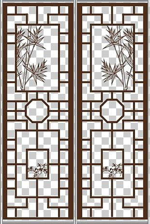 Window Chinoiserie Door PNG