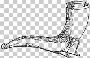 Line Art Drinking Horn PNG