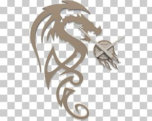 Clock Drawing Painting Dragon Marquetry PNG