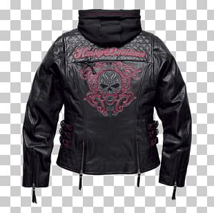 Leather Jacket Harley-Davidson Clothing PNG