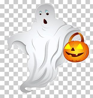 Pumpkin And Ghost Halloween PNG