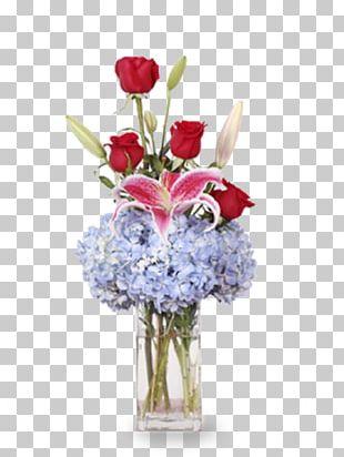 Garden Roses Cut Flowers Vase Floral Design PNG