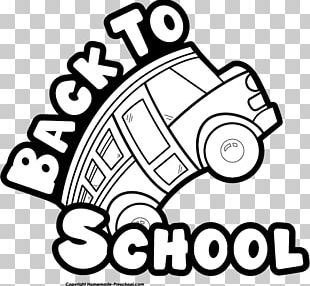 School Black And White PNG