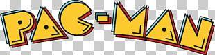 Pac-Man Plus Ms. Pac-Man Arcade Game Logo PNG