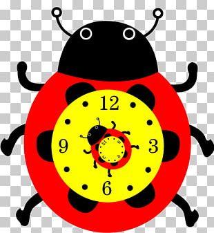 Alarm Clock Paper Ladybird PNG