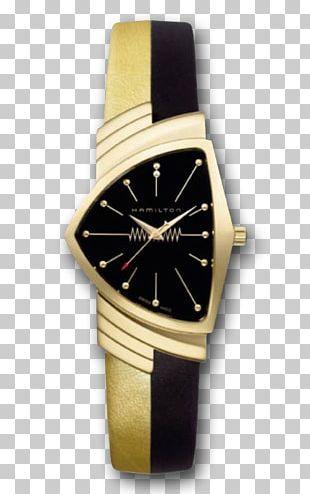 Ventura Hamilton Watch Company Colored Gold Bracelet PNG