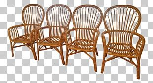 Table Chair Wicker Rattan Dining Room PNG