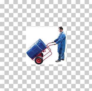 Hand Truck Material Handling Drum Wheel Transport PNG